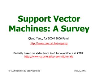 Support Vector Machines: A Survey