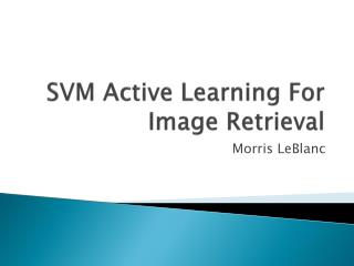 SVM Active Learning For Image Retrieval