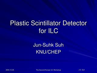 Plastic Scintillator Detector for ILC