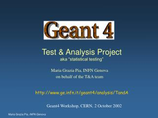 "Test & Analysis Project aka ""statistical testing"""