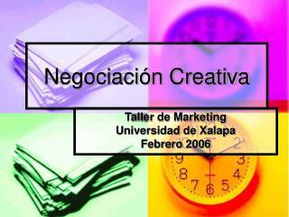 Negociaci n Creativa