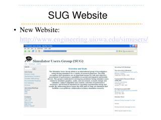 SUG Website