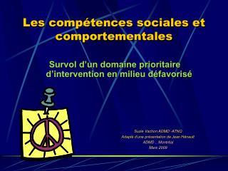 Les compétences sociales et comportementales