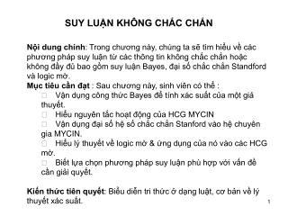 SUY LU?N KH�NG CH?C CH?N