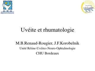 Uvéite et rhumatologie