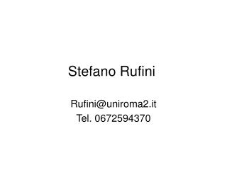 Stefano Rufini