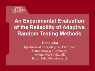 An Experimental Evaluation of the Reliability of Adaptive Random Testing Methods