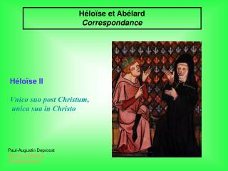Héloïse et Abélard Correspondance