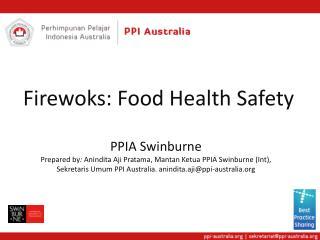 Firewoks : Food Health Safety