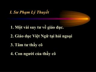 I. S? Ph?m L� Thuy?t