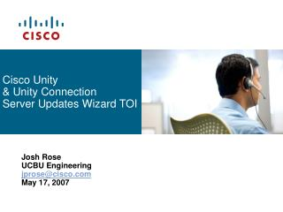 Cisco Unity & Unity Connection Server Updates Wizard TOI