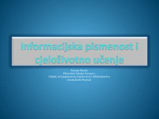 Informacijska pismenost i cjeloživotno učenje