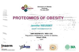 PROTEOMICS OF OBESITY