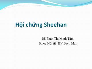 Hội chứng Sheehan