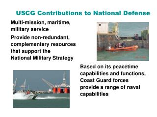 USCG Contributions to National Defense