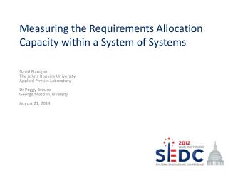 Measuring the Requirements Allocation Capacity within a System of Systems