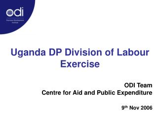 Uganda DP Division of Labour Exercise