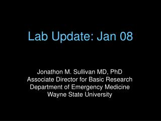 Lab Update: Jan 08
