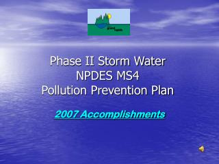 Phase II Storm Water NPDES MS4 Pollution Prevention Plan
