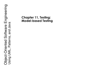 Chapter 11, Testing: Model-based Testing