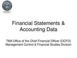 Financial Statements & Accounting Data