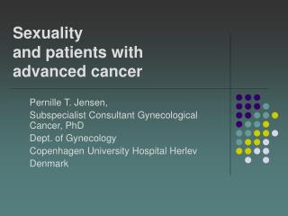 Sexuality  and patients with advanced cancer�