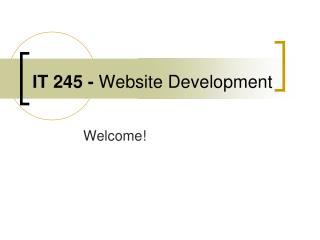 IT 245 -  Website Development