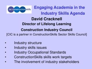 Engaging Academia in the  Industry Skills Agenda