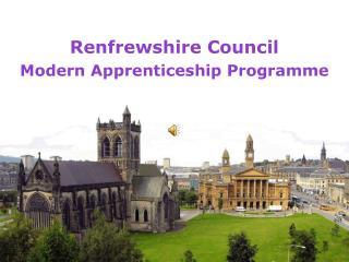 Renfrewshire Council Modern Apprenticeship Programme