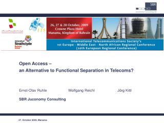 Open Access –  an Alternative to Functional Separation in Telecoms?