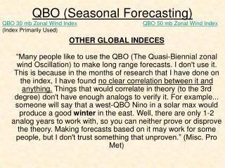 QBO (Seasonal Forecasting)