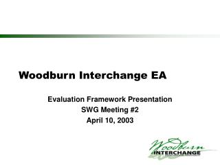 Woodburn Interchange EA