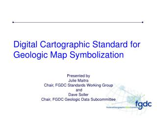 Digital Cartographic Standard for Geologic Map Symbolization