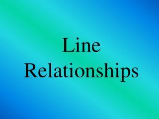 Line Relationships