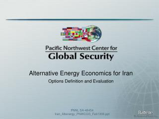 Alternative Energy Economics for Iran  Options Definition and Evaluation
