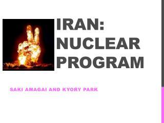 Iran: nuclear program