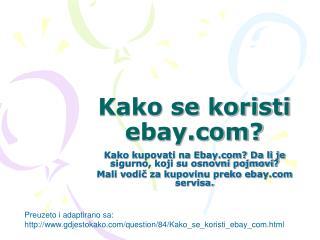 Kako se koristi ebay?