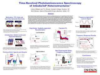 Time-Resolved Photoluminescence Spectroscopy of InGaAs/InP Heterostructures*