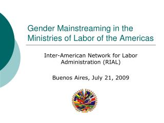Gender Mainstreaming in the Ministries of Labor of the Americas