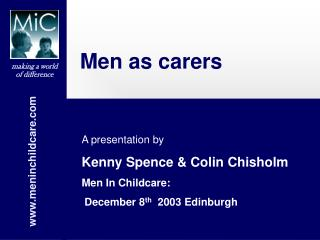 Men as carers