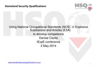Homeland Security Qualifications