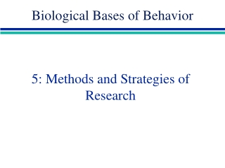 Genes and Behavior