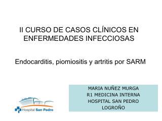 II CURSO DE CASOS CLÍNICOS EN ENFERMEDADES INFECCIOSAS