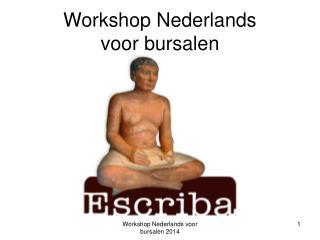 Workshop Nederlands voor bursalen