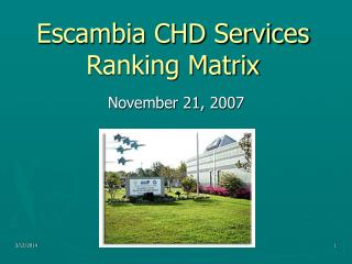 Escambia CHD Services Ranking Matrix