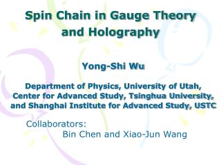 Spin Chain in Gauge Theory  and Holography