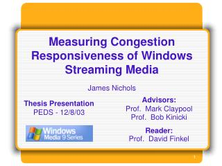 Measuring Congestion Responsiveness of Windows Streaming Media