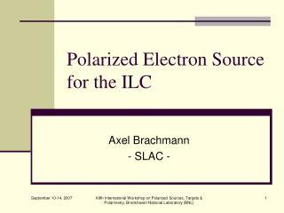 Polarized Electron Source for the ILC