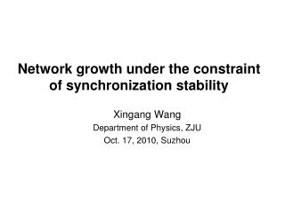 Network growth under the constraint  of synchronization stability
