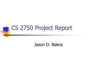 CS 2750 Project Report